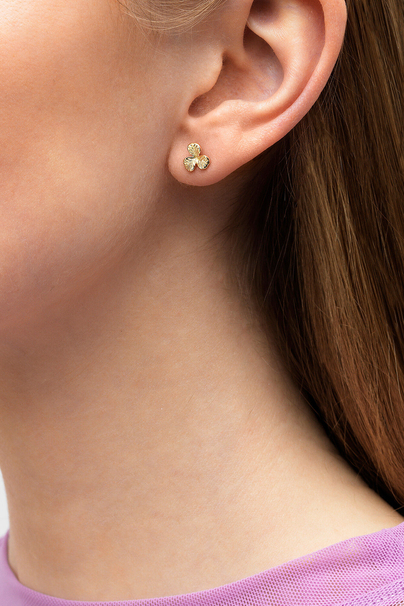 Clover Earring Mini, GULD