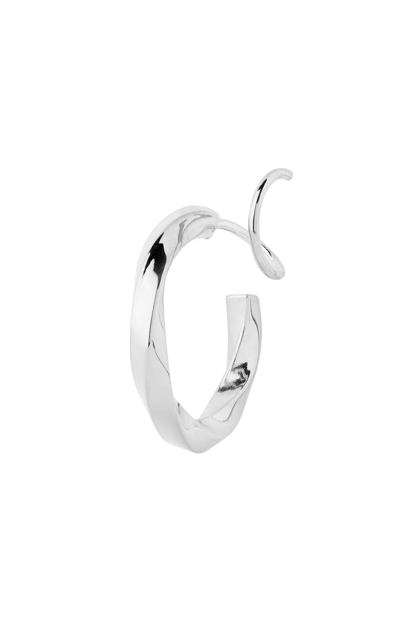 Marcelle Twirl Earring 100655, SILVER HP