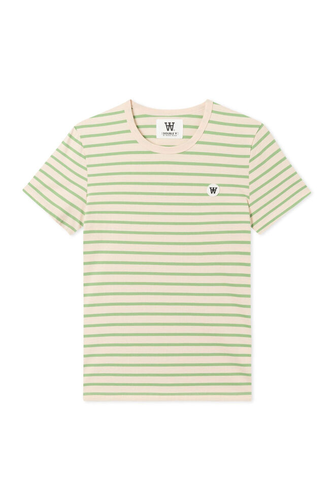 Uma t-shirt 10922500-2222, OFF-WHITE/GREEN STRIPES